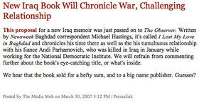 The Michael Hastings Memoir: Book Proposals Kill