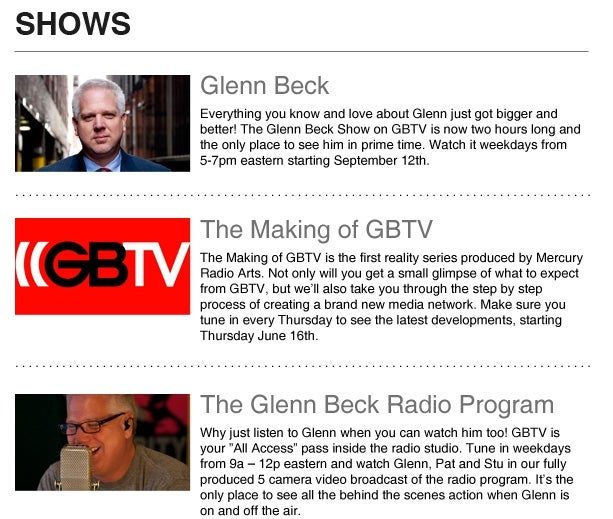 How Much Would You Pay to Watch Glenn Beck?