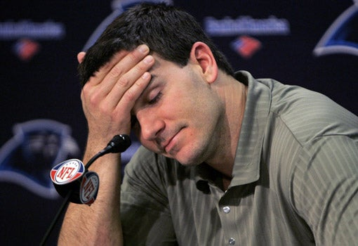 It's 6:30 AM, And Jake Delhomme Just Threw Another Interception
