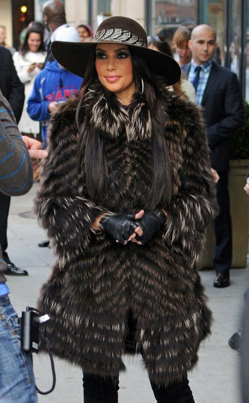 Kim Kardashian Looks Ridiculous, That's Fur Sure