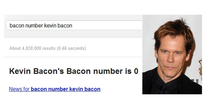 Google Unveils Most Important Search Tool to Date: Every Actor's Degree of Separation from Kevin Bacon