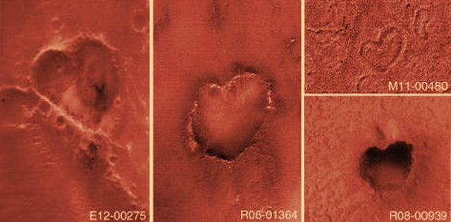 Mars is full of freaking hearts everywhere!
