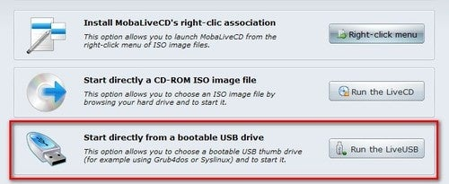 MobaLiveCD Updates and Adds USB Drive Support