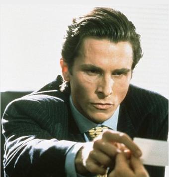Patrick Bateman = Tom Cruise + Christian Bale