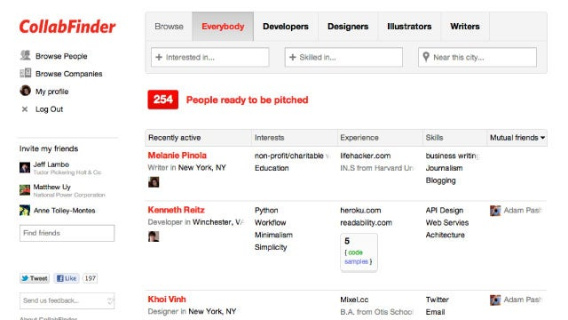 CollabFinder Helps You Find Collaborators For Your Creative Project