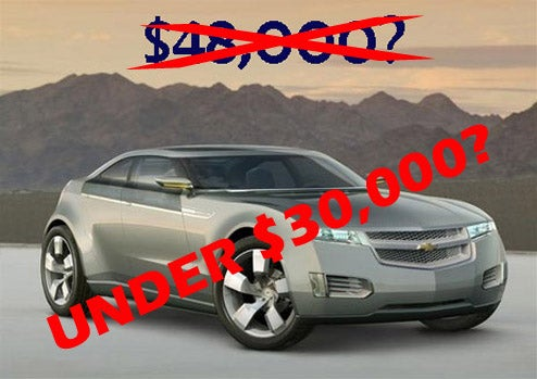 2011 Chevy Volt To Be Priced Under $30,000?