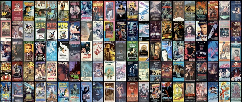 VHS Cover Wall Is 3600-Strong, May or May Not Have A Tanning Salon Out Back