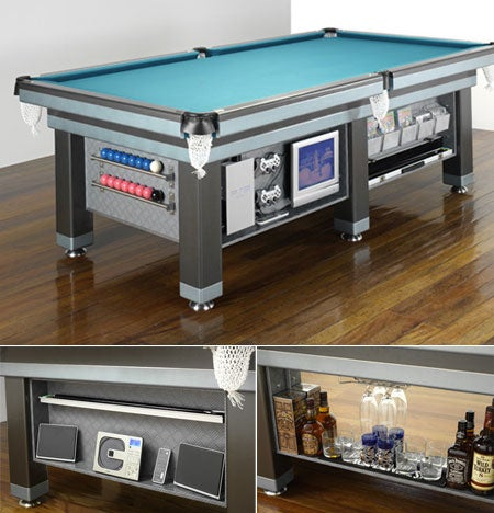 Home Theater Pool Table is Perfect for People Sick of Having Money