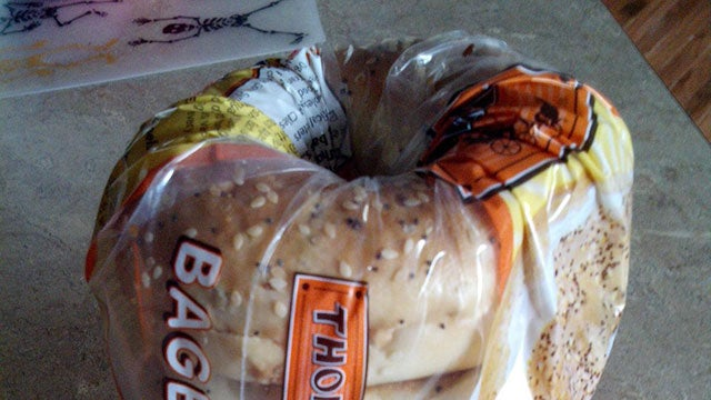 Don't Bother Clipping a Bagel Bag Shut, Just Use the Bag Itself
