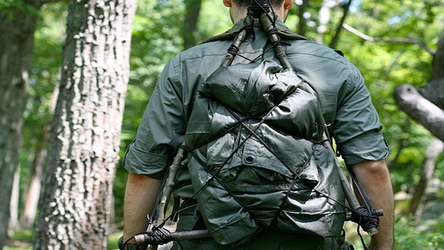 How to Make an Improvised Backpack
