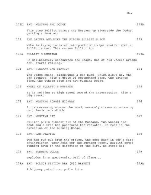 Bullitt Chase Scene: The Script