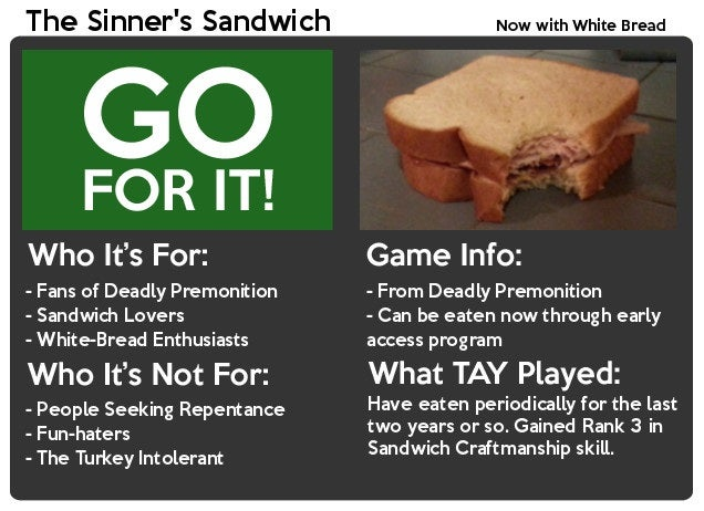 The Sinner's Sandwich: The TAY Review