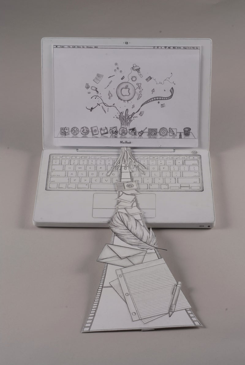 """Apple Netbook"" Student Project Is a Pencil-Drawn Beauty"