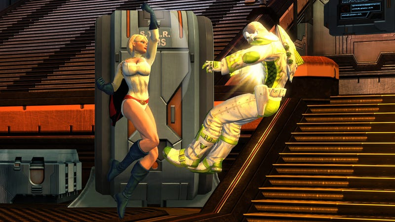Power Girl Shows Off Her Powers In DC Universe Online
