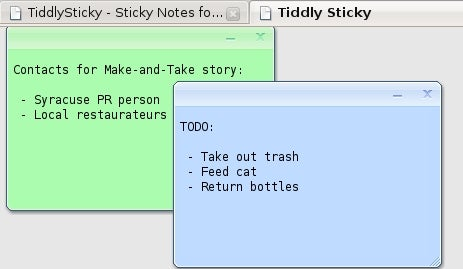 Take In-Browser Notes to Read Anywhere with TiddlySticky