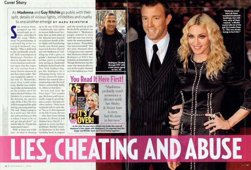 Messy Divorces: 'Old, Wrinkled' Madonna vs. 'Sneaky Coward' Guy Ritchie