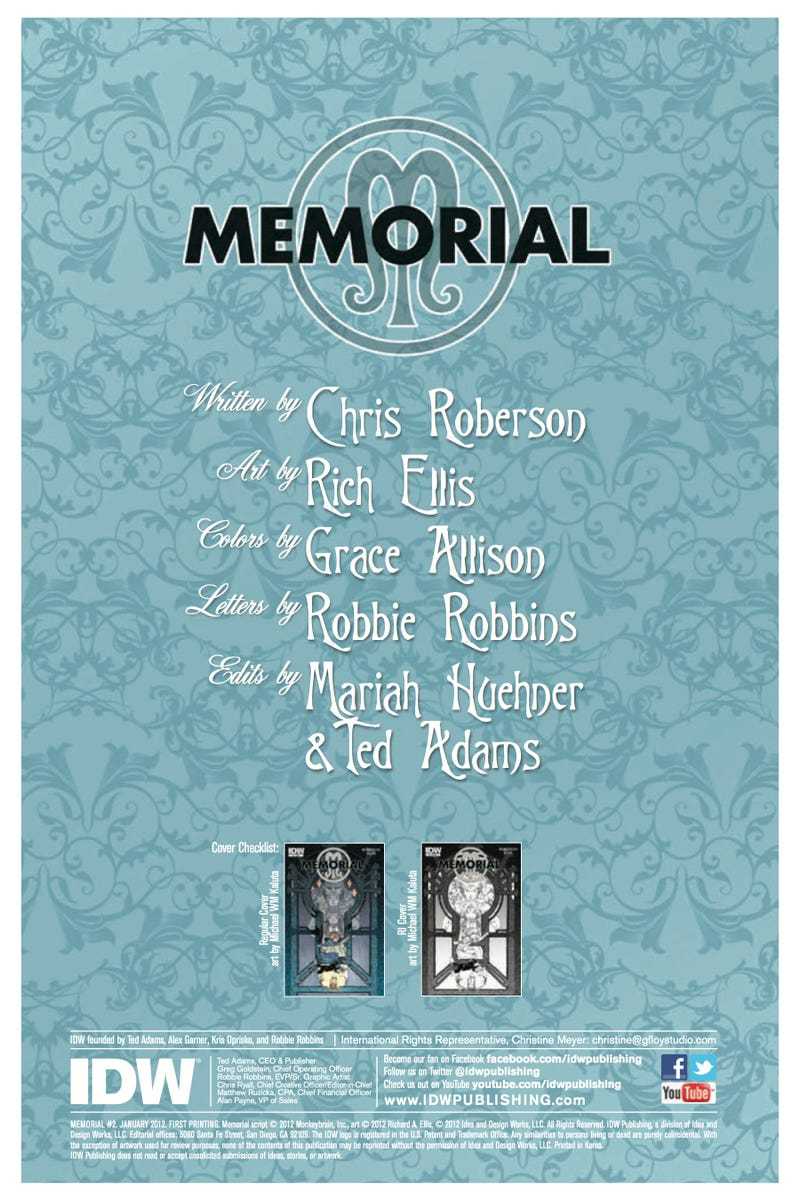 Read an exclusive preview of Memorial, a new fantasy comic from the author of iZombie