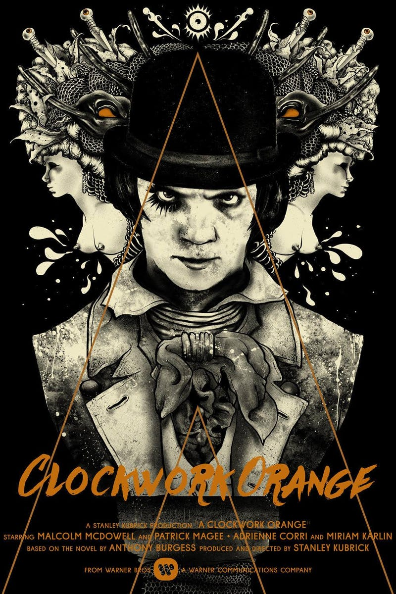 We're Transfixed by This Striking (and Incredibly NSFW)Clockwork Orange Poster