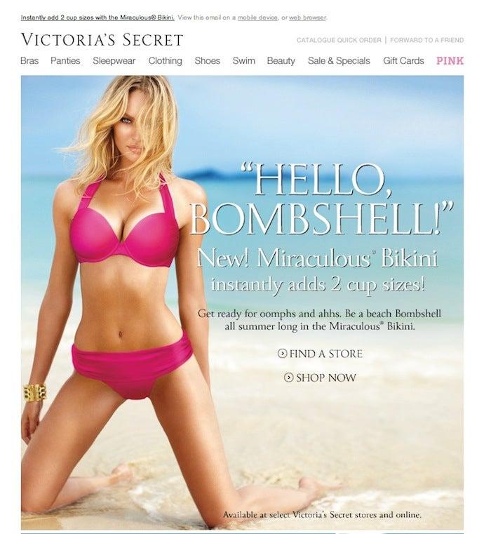 Victoria's Secret Bikini Comes With Fake Boob Dickey