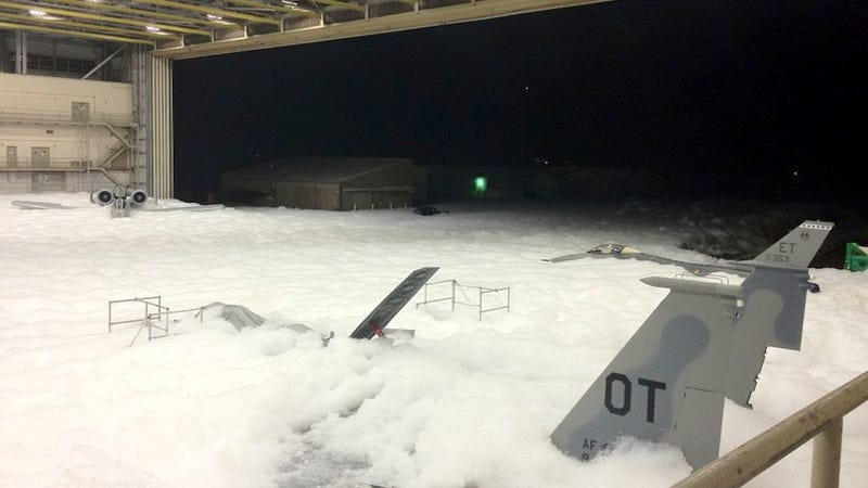 Air Force Accidentally Fills Entire Hangar with Foam