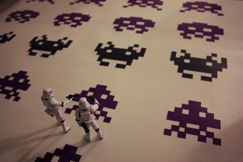 Stormtroopers Love Mario Kart, Tetris, Space Invaders