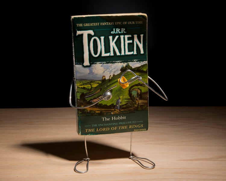 Anthropomorphized paperbacks act out the stories between their pages