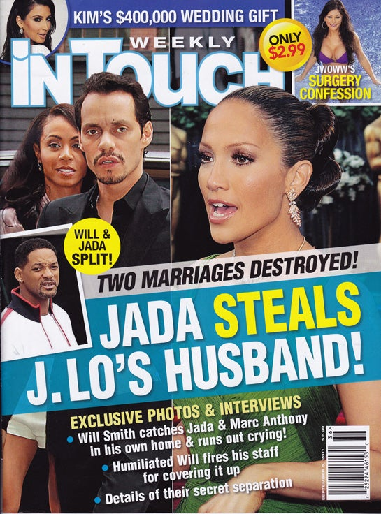 This Week In Tabloids: Jada Cheated On Will Smith With Marc Anthony