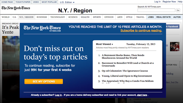 Two Years Later, The New York Times Closes Its Paywall's Most Gaping Hole