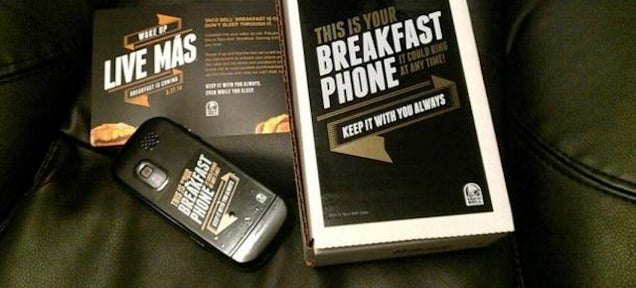 "Taco Bell's ""Breakfast Phone"" Comes With Free Tacos, Angry Creditors"