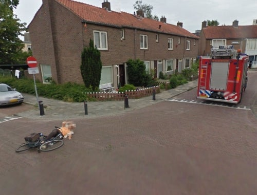 Google Street View Catches Dutch Fire Truck Knocking Down Little Old Lady