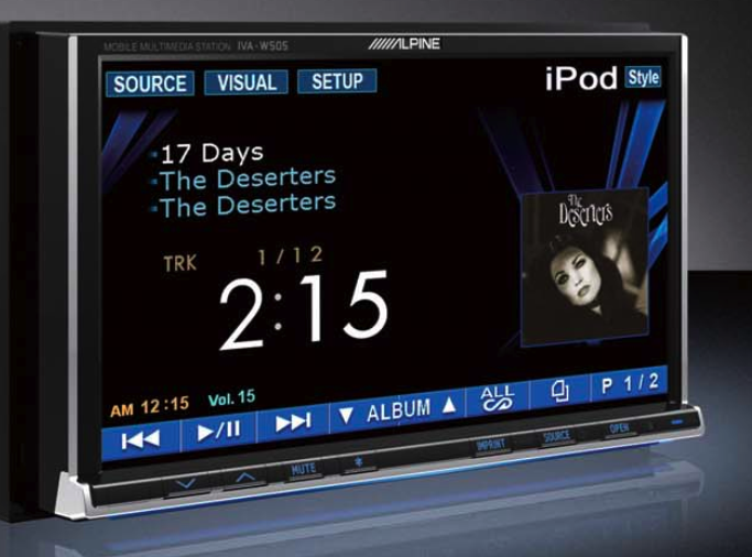 Alpine IVA-W505 Video Headunit Plays DivX, iPod Video