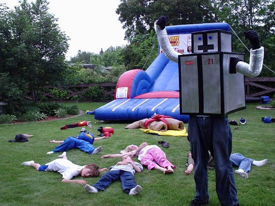 Caption Contest: The Birthday Robot's Children Massacre