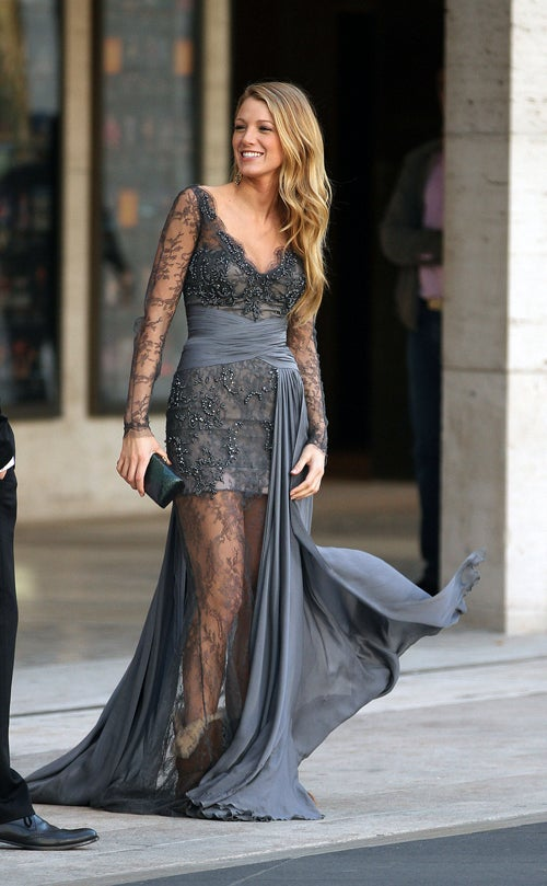 Blake Lively Pairs Stunning Gown With Hideous Boots
