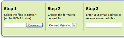 Online file conversion with Zamzar