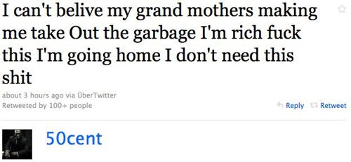 50 Cent Is Too Rich To Take Crap From His Grandma
