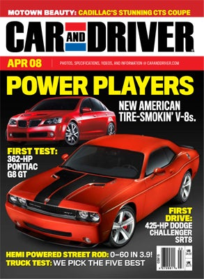 Car & Driver Cover Clinic: Which Embargoed Shot of the 2008 Dodge Challenger SRT8 Do You Want on their April Cover?