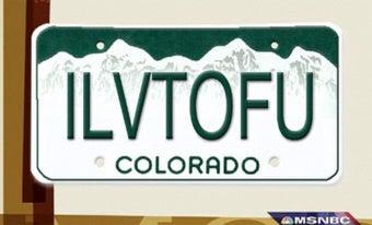 Colorado DMV Misinterprets Tofu-loving Vegan Vanity Plate