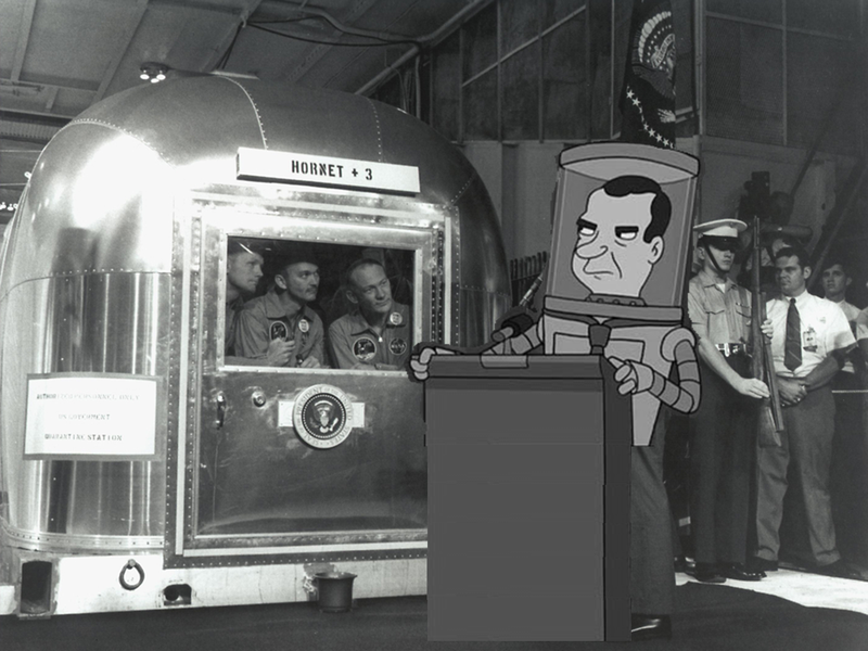 Nixon Greets the Conquering Heroes of Apollo 11
