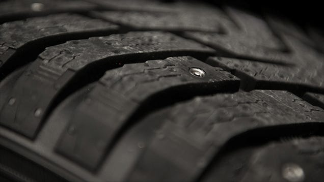 Snow Tires With Studs That Retract At the Push of a Button