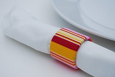 Recycle a Cardboard Tube into Fabric Napkin Rings
