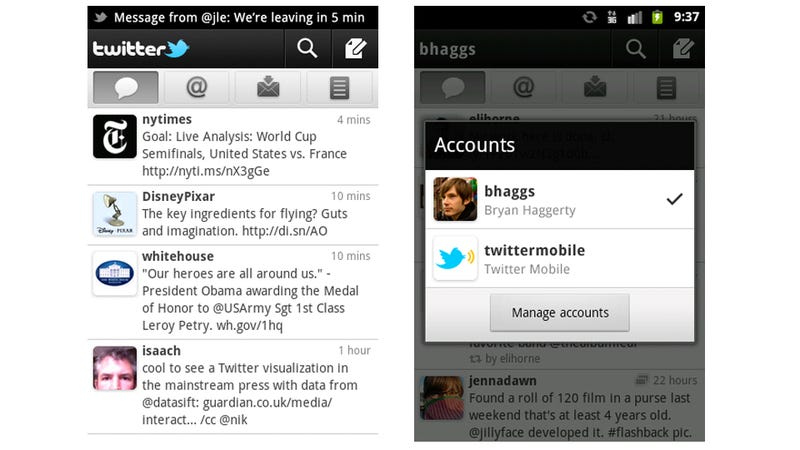 Two Tiny Things for Android Twitter Make It Ten Times Better: Push Notifications and Multiple Accounts