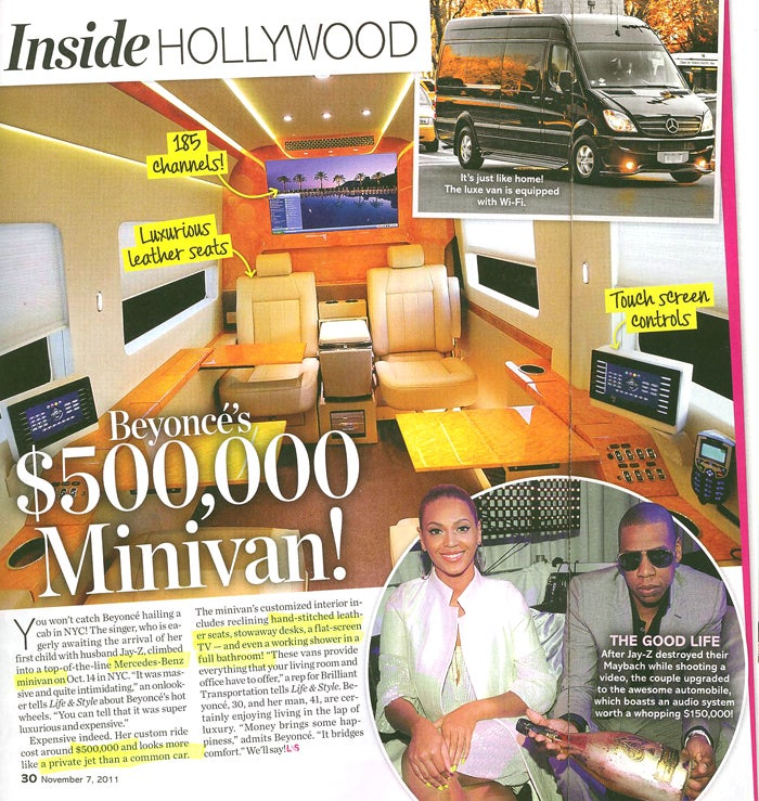 This Week In Tabloids: Beyoncé's $500K Minivan Has A Shower