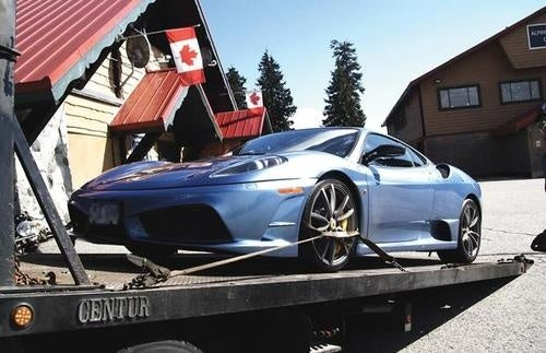 Canadian Mounties Bust 21-Year-Old Street Racer in Day-Old Ferrari Scuderia