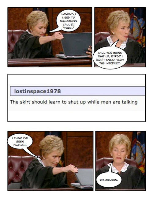 Comic Confrontations: Judge Judy Vs. Internet Commenters