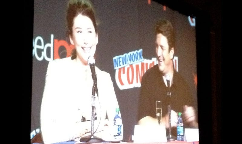 Nathan Fillion makes a surprise cameo at the New York Comic-Con Firefly panel