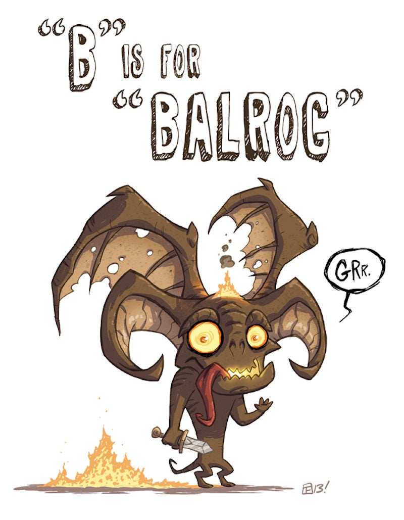 """""""A"""" is for Ackbar, """"B"""" is for Balrog...teach your kids the ABC's of Geek"""