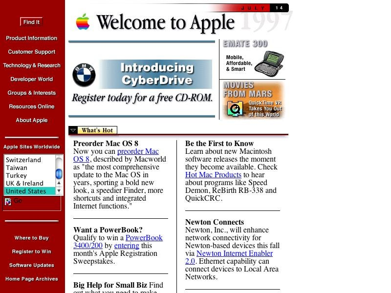 Old Websites Sure Are Embarrassing