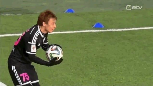 Estonian Soccer Team Plays Human Bowling For Goal Celebration
