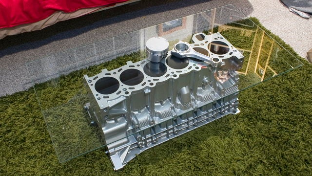 how to make an engine block table