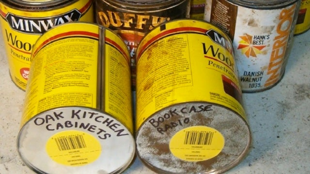 Label Paint Cans with the Name of What They Painted